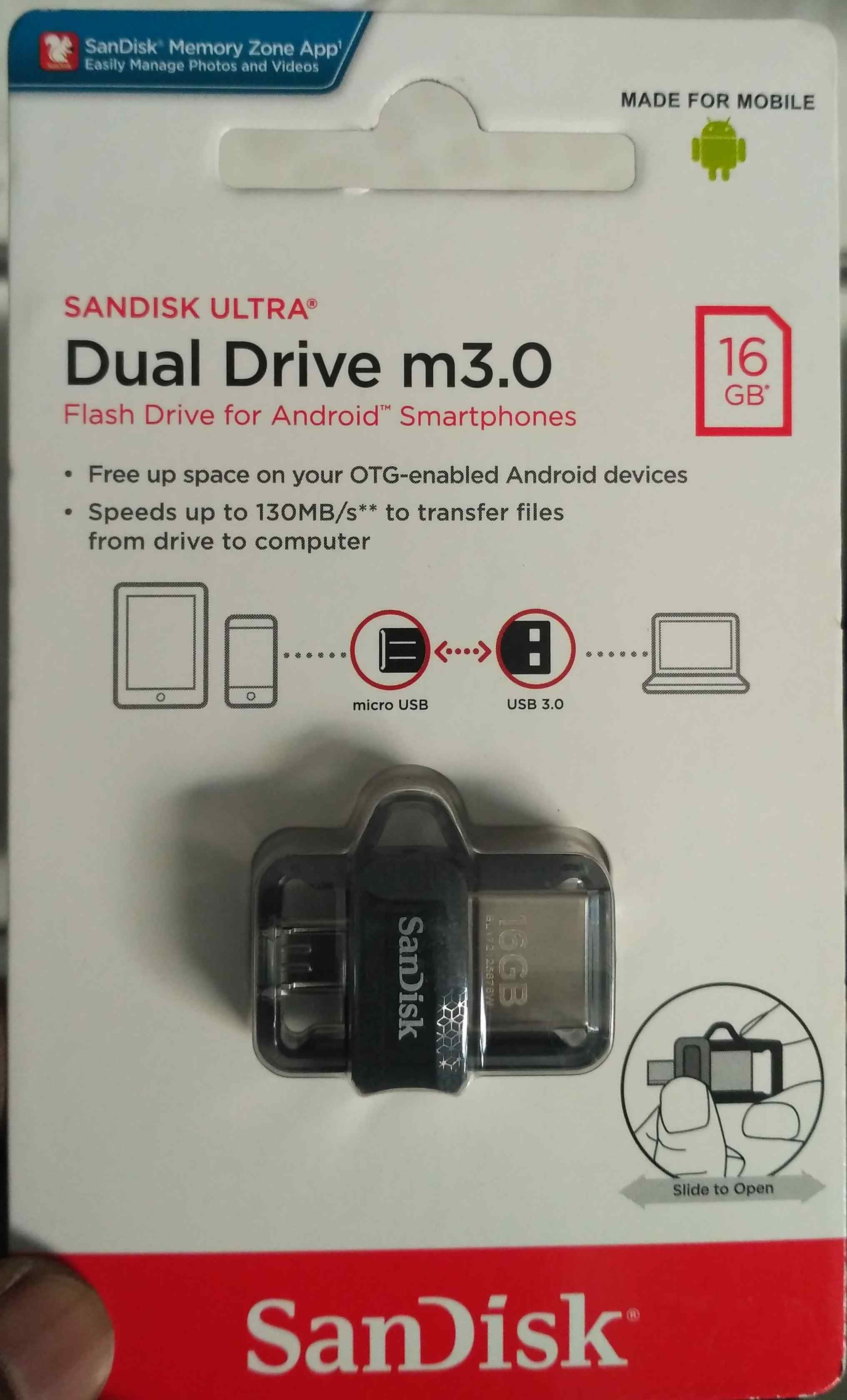 Sandisk Ultra Dual Drive 32 Gb In Hyderabad Buynuse Otg M3 16gb Photo Of Product
