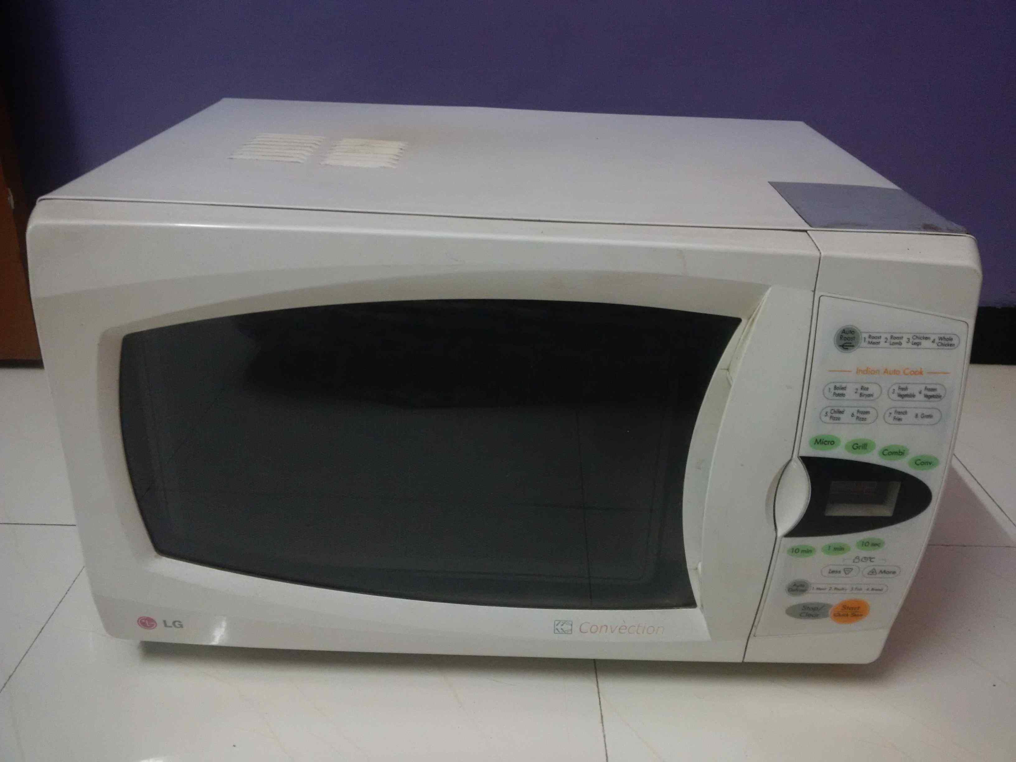 how to clean lg microwave oven